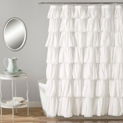 Lush Décor 72 Inch X 72 Inch Shower Curtain In White