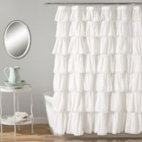 Lush Dcor 72 Inch X Shower Curtain In White