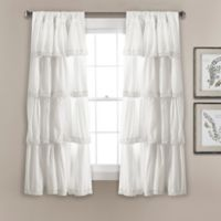 Lush Décor Emily 45-Inch Rod Pocket Window Curtain Panel Pair in White