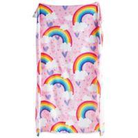 Dream Factory Rainbow Cuddle N Go Throw in Pink