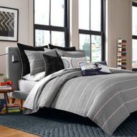 Original Penguin® Reed Reversible King Comforter Set in Charcoal