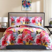 Lemon & Spice Lanai 8-Piece King Comforter Set in Pink