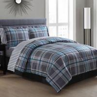 White Birch Chelsea 8-Piece Comforter Set in Grey