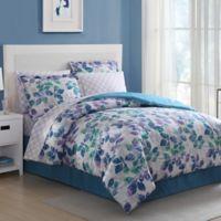White Birch Abela 8-Piece Full Comforter Set in Blue