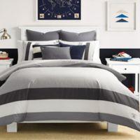Nautica® Signal Stripe Twin Comforter Set in Grey