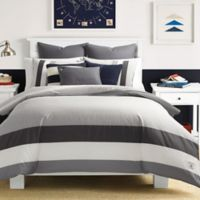 Nautica® Signal Stripe Twin Comforter Set in Grey