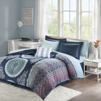Intelligent Design Loretta 7-Piece Twin Comforter Set in Navy