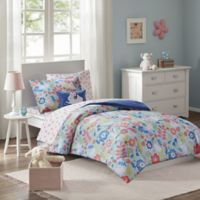 Mi Zone Kids Flopsy 8-Piece Full Bunny Printed Complete Bed and Sheet Set in Blue