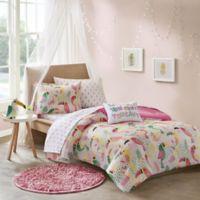 Mi Zone Kids Toucan Reversible 8-Piece Full Comforter Set in Pink