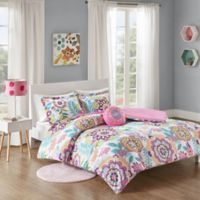 Mi Zone Camille 4-Piece Full/Queen Floral Printed Comforter Bedding Set