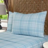 Geraldine 100% Cotton Flannel Twin Sheet Set in Blue