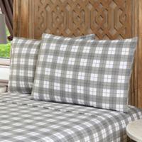 Geraldine 100% Cotton Flannel Full Sheet Set in Grey