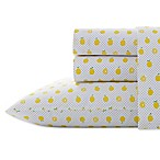 Poppy & Fritz® Lemons 200-Thread-Count Queen Sheet Set in Yellow