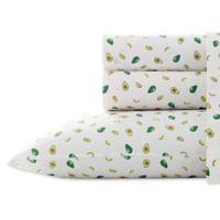 Poppy Fritz Avocados 200 Thread Count Full Sheet Set In Green