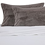 Faux Fur Standard Pillowcase in Light Grey