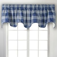 Bartlett Plaid Scalloped Valance in Blue