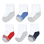 On The Goldbug™ Size 3-12M 6-Pack Quarter Socks