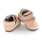 Jack & Lily™ Size 0-6M Faux Leather Moccasin Fringe Casual Shoe in Tan