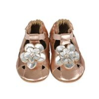 Robeez® Size 6-12M Soft Sole Pretty Pansy Trainer Shoe in Rose Gold