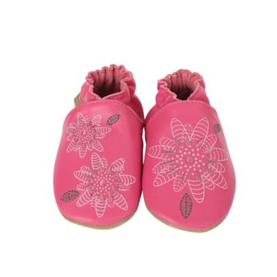 Buy pink girls shoes from bed bath beyond robeez size 2 3y fiona flower casual shoe in hot pink mightylinksfo