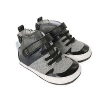 Robeez® Mini Shoez™ Size 2 Zachary High Top Shoe in Black