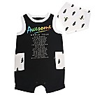 Mini Heroes Newborn 2-Piece Tour Romper and Bandana Set in Black