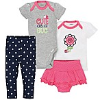 Gerber® Size 3-6M 4-Piece Ladybug Bodysuit, Shirt, Panty and Pant Set in Grey/White