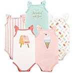 Hudson Baby® Size 18-24M 5-Pack Ice Cream Short Sleeve Bodysuits