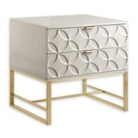 Chic Home Lyon Side Table in Beige