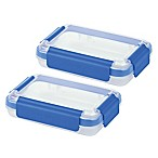 Progressive® SnapLock™ 2-Cup Shallow Food Containers in Blue (Set of 2)
