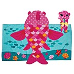 Stephen Joseph Hooded Fish Towel in Pink/Blue