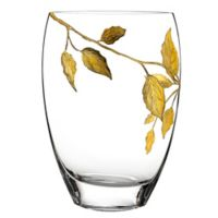 Badash Gold Leaves 12-Inch Vase