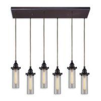 Elk Lighting Fulton 30-Inch 6-Light Pendant Light in Clear