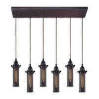 Elk Lighting Fulton 30-Inch 6-Light Pendant Light in Oil Rubbed Bronze