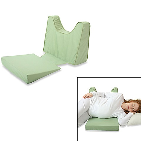 Back 39n shape pregnancy support and feeding wedge by for Bed bath beyond maternity pillow