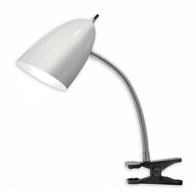 Tensor 19 inch led desk clip lamp in brushed steel