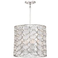 Minka Lavery Culture Chic 4-Light Pendant Light in Silver