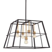 Minka Lavery® Keeley Calle 5-Light Ceiling Mount Pendant Light in Bronze