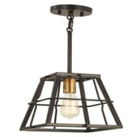 Minka Lavery® Keeley Calle 1-Light Ceiling Mount Pendant Light in Bronze