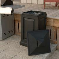 Mayne Berkshire 45-Gallon Storage Bin in Black