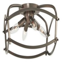 Minka Lavery Jupiter Canopy 4-Light Flush Light in Bronze