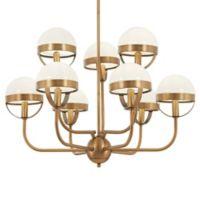 Minka Lavery Tannehill 9-Light Chandelier in Noble Brass