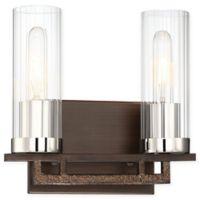 Minka Lavery® Maddox Roe 2-Light Vanity Light in Iron Ore