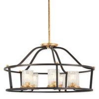 Minka-Lavery® Posh Horizon 5-Light Ceiling-Mount Pendant in Sand Black/Gold