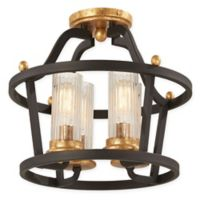 Minka-Lavery® Posh Horizon 4-Light Semi-Flush Mount Light in Sand Black/Gold