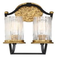 Minka-Lavery® Posh Horizon 2-Light Wall Sconce in Sand Black/Gold
