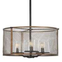 Minka Lavery Marsden Commons 3-Light Ceiling-Mount Pendant in Iron