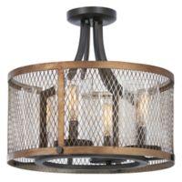 Minka Lavery Marsden Commons 4-Light Ceiling-Mount Pendant in Iron