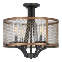 Minka Lavery Marsden Commons 4-Light Semi Flush Pendant in Iron