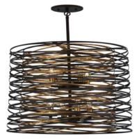 Minka Lavery Vortic Flow 8-Light Pendant Light in Dark Bronze